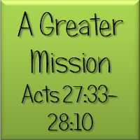 A Greater Mission