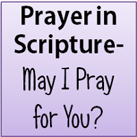 Prayer in Scripture-May I pray for you?